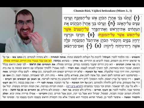 Chumás-Rási, Vájikrá 4. (1:6-13)