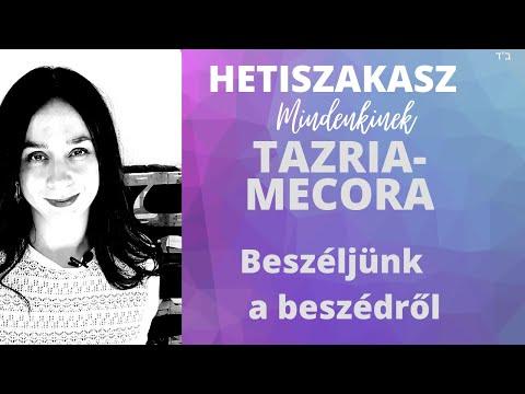 Beszeljünk a beszédről (Tazria – Mecora)